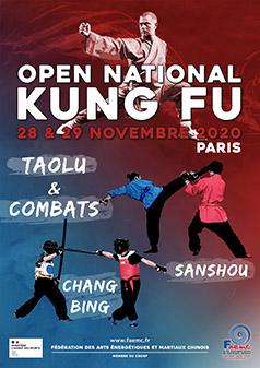 Open national de kung fu 28-29 novembre 2020